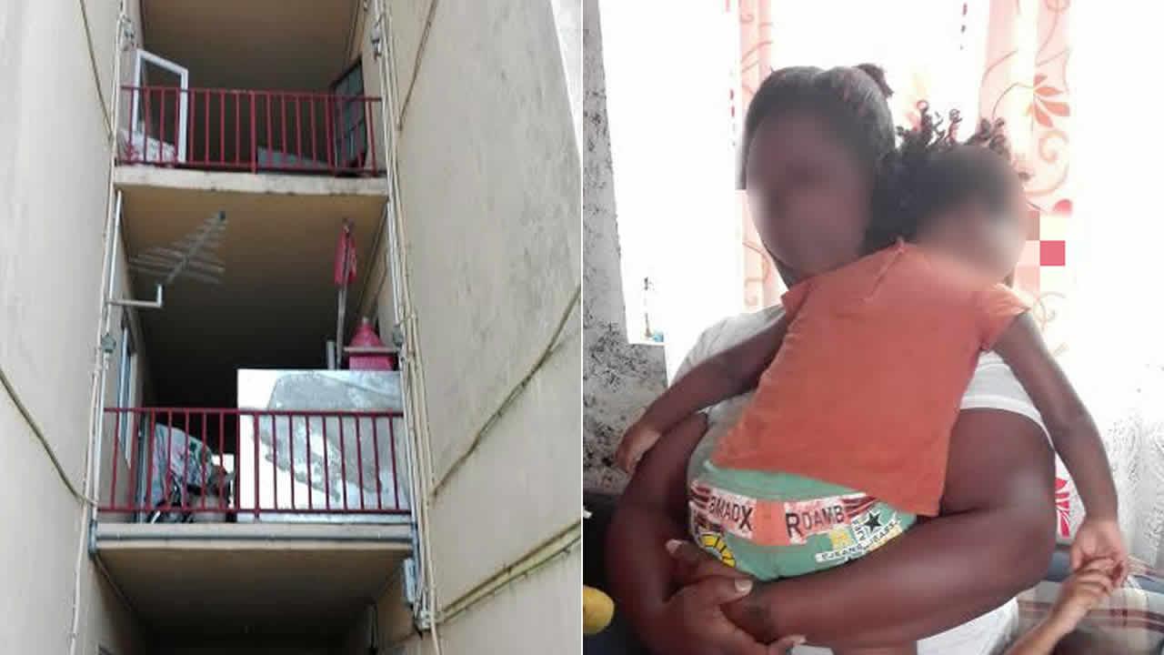 La petite Anaé dans les bras de sa maman Emmanuelle.