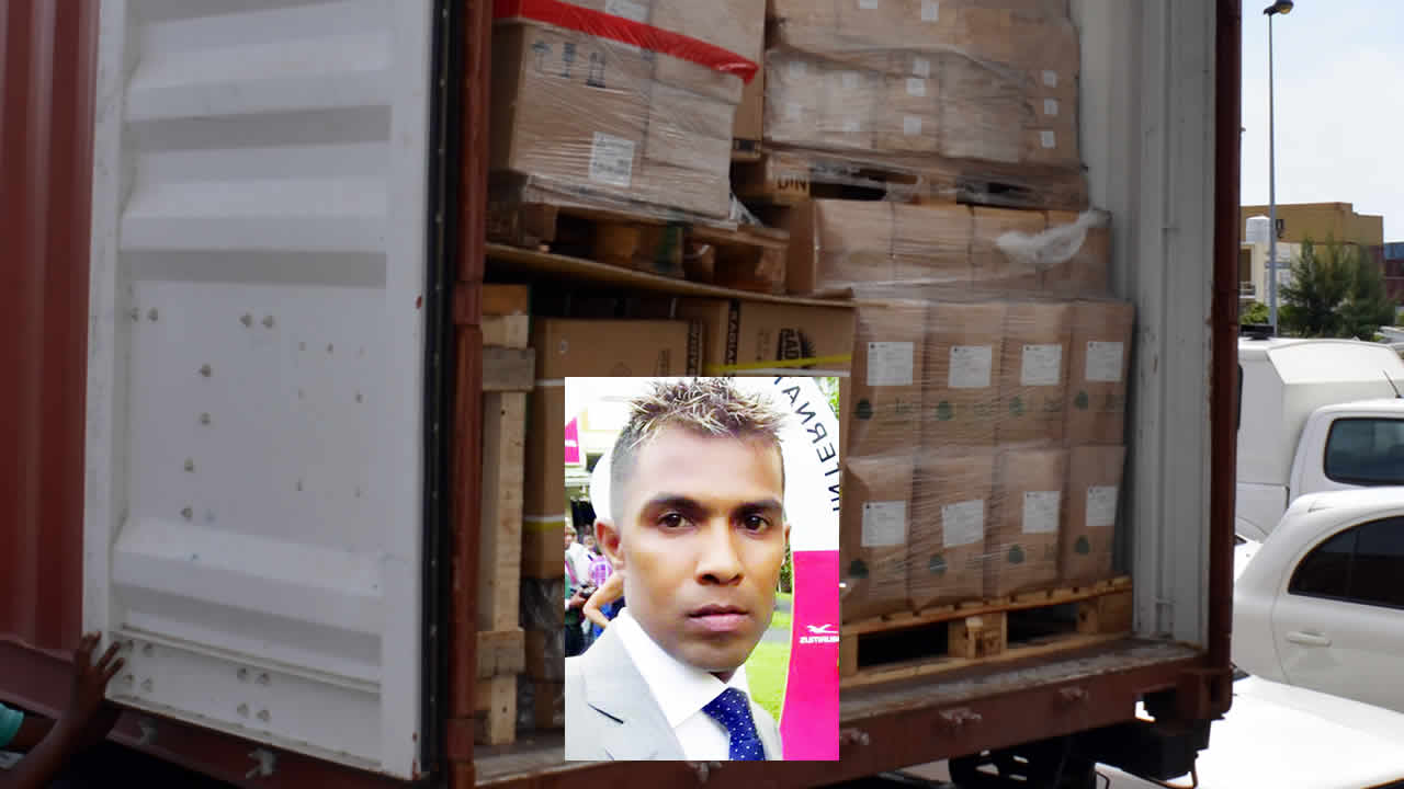 C'est dans ce conteneur qu'un premier stock de 135 kilos d'héroïne importés par Navind Kistnah ont été saisis en mars dernier.