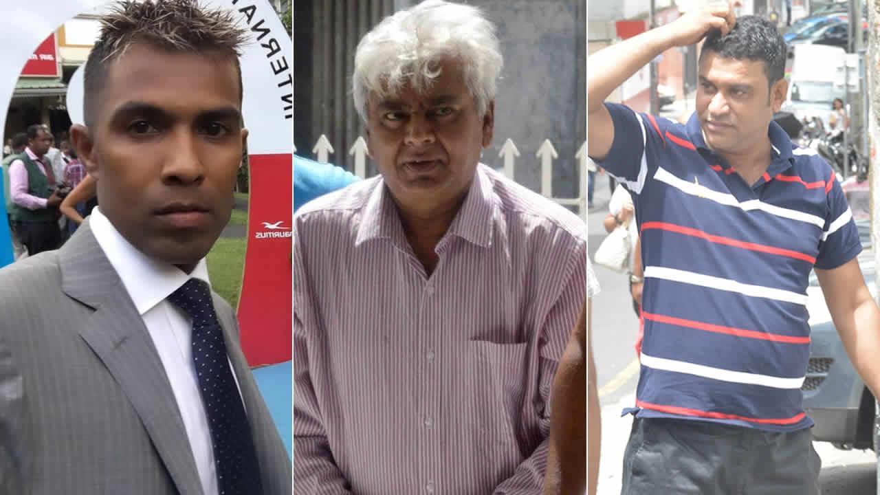 Navind Kistnah, Geanchand Dewdanee et Sidi Thomas.