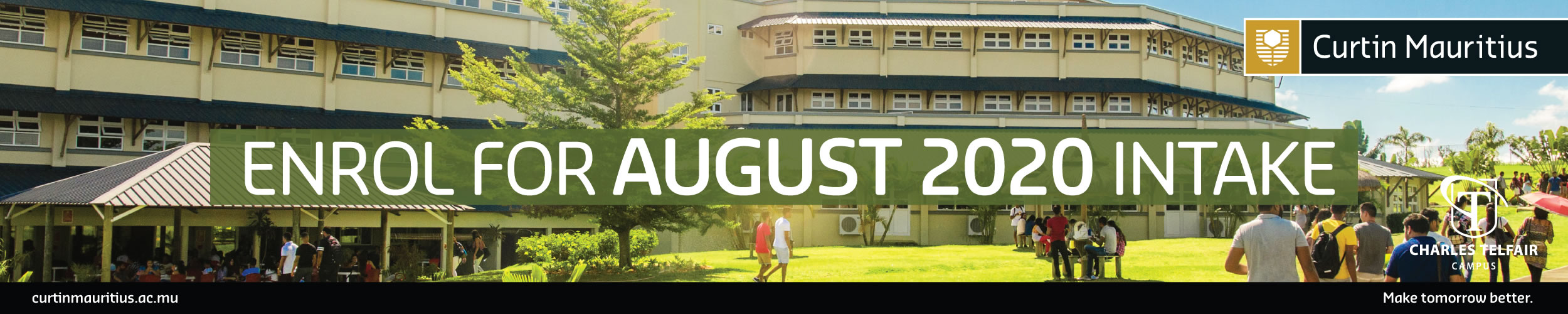 Enrol for August 2020 Intake