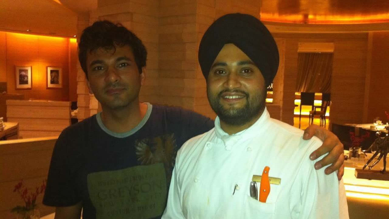 Damanraj with Chef Vikas Khanna.
