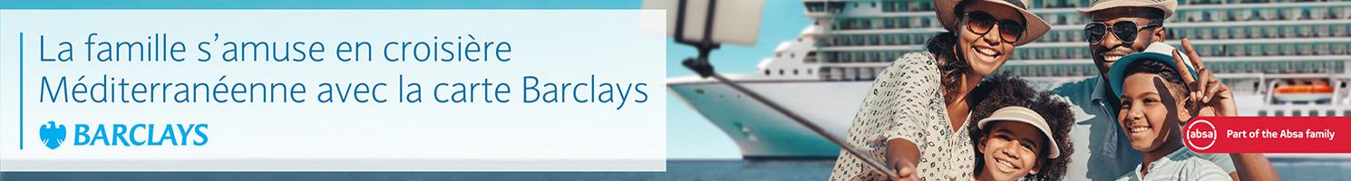 La famille s'amuse en croisière Méditerranéenne avec la carte Barclays