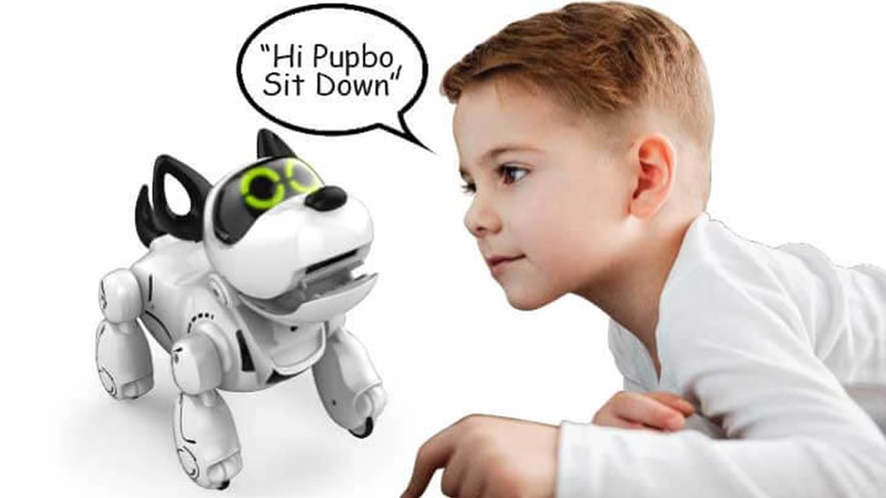 Le Chien Pupbo de Silverlit est capable de rechercher et de renouveler une variété de voyages.