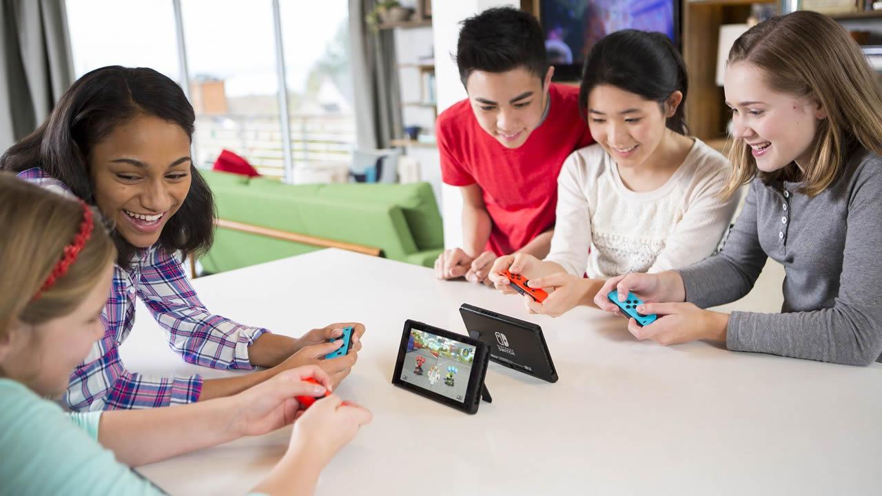 Les parents plus âgés ont choisi la campagne Nintendo Switch aux jeunes.