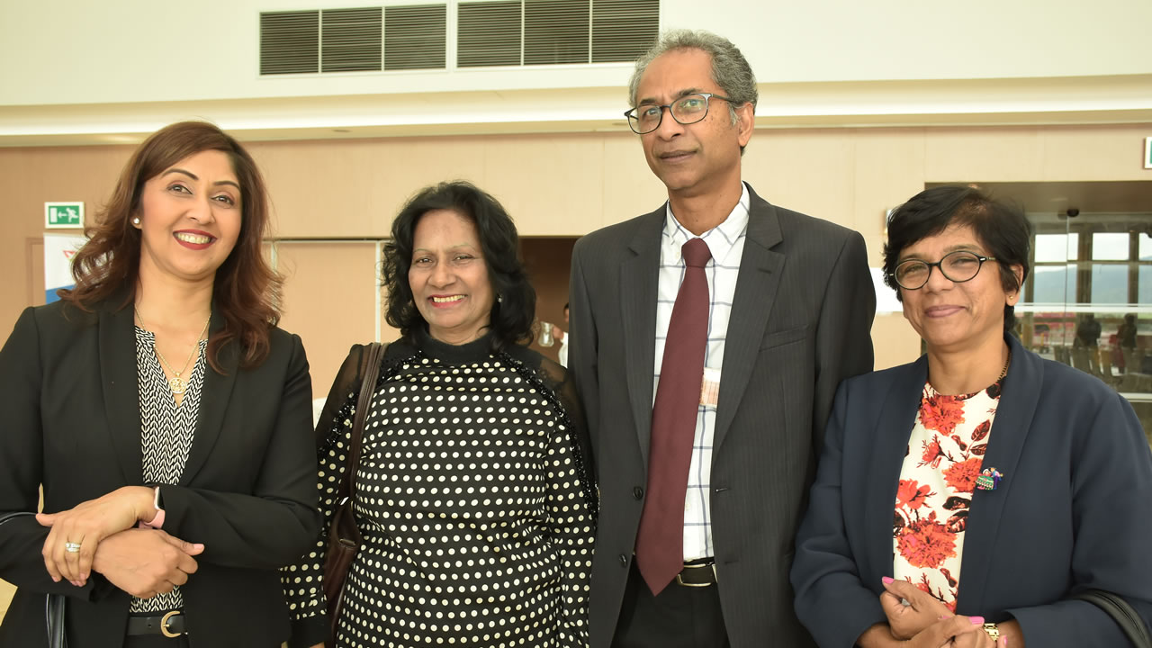 Amrita Rajcoomar, Regional Manager de Satguru Travel & Tours, Soorya Oogarah, Managing Director, Airline and Systems Representation & Travel and Services, Devika Ghunsam, Managing Director de Clavis Travel Bureau, Ben Balasoupramanien, Senior Manager – Trade & Market Support à Air Mauritius.