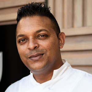 Chef Ritesh Dawoojee du Long Beach.