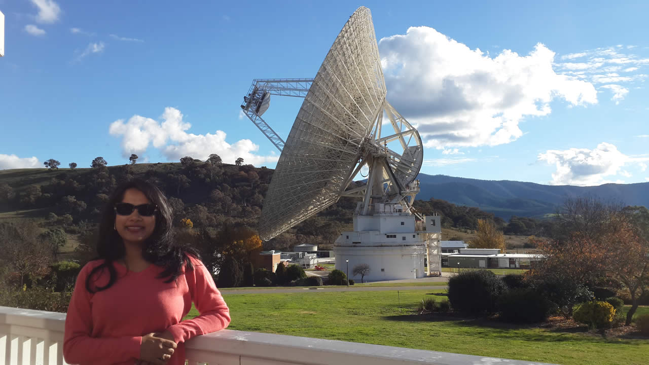 At the Canberra Deep Space Communication Complex.