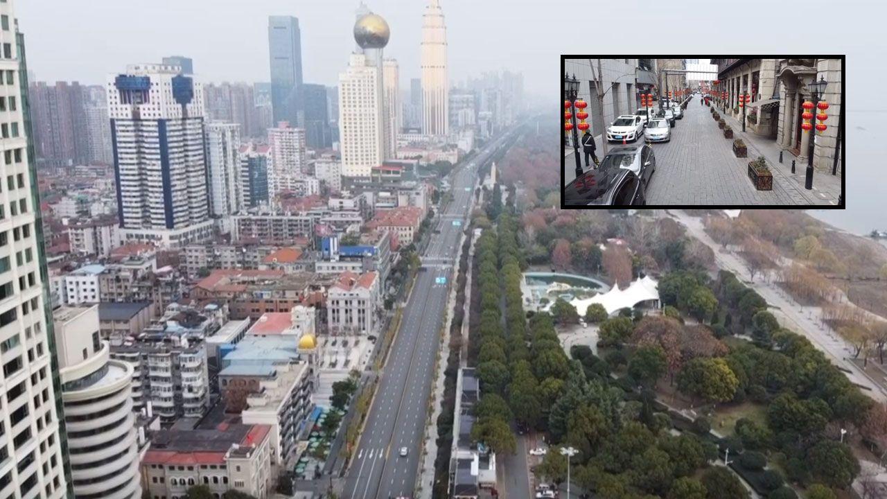 Des routes sont restées désertes pendant un peu plus d'un mois à Wuhan