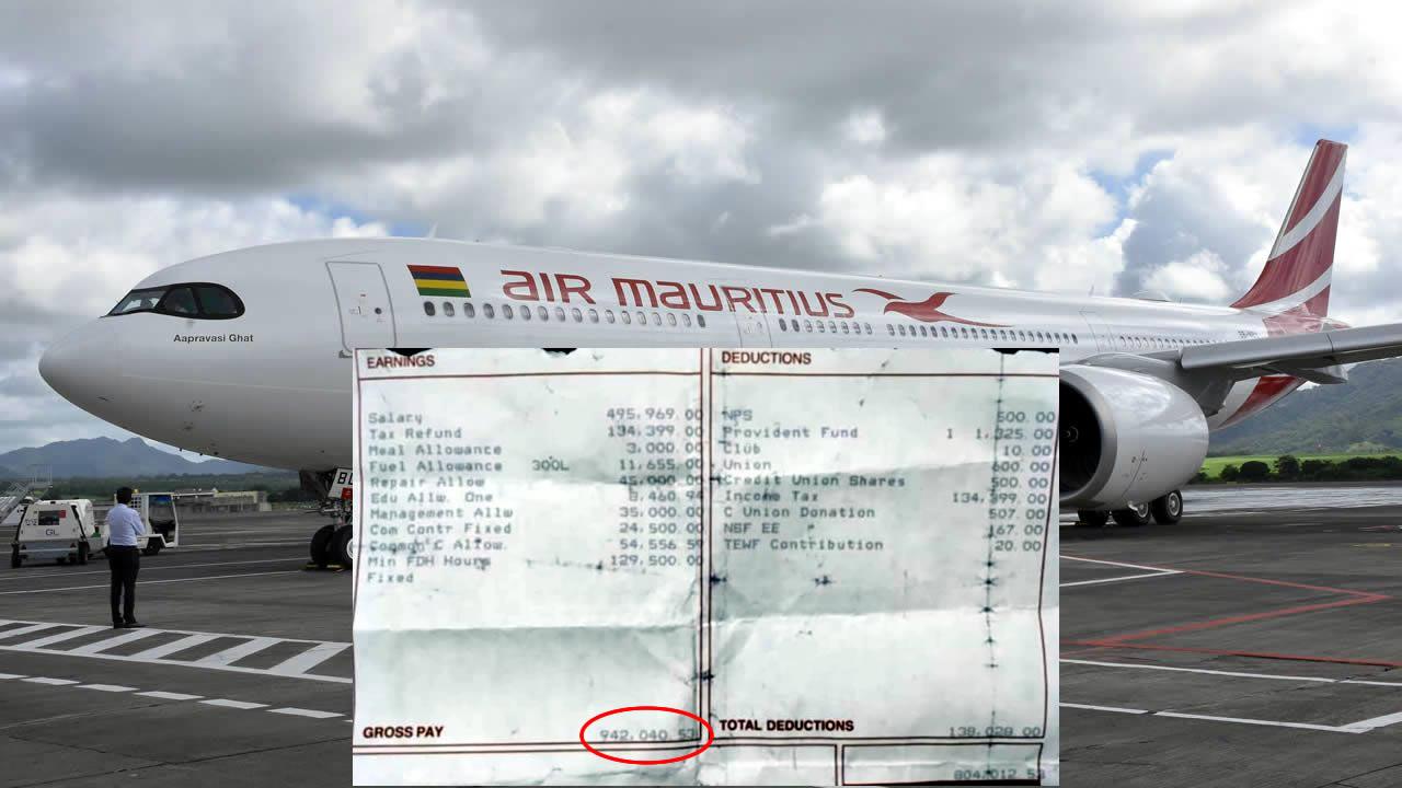 Alors Qu Air Mauritius Est A Terre Le Salaire Mensuel De Rs 940