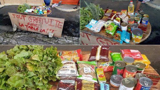 Bonne-Terre - Distribution de nourriture avec un humour mordant : «Tou gratui, a par latab la»