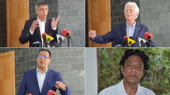 Politique : Duval, Bérenger, Bodha et Bhadain commentent les conclusions de la commission d'enquête sur l'affaire Britam