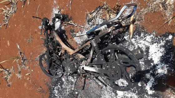 À Morcellement St André : il incendie la moto de son rival dans un champ de canne