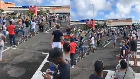 Réouverture des supermarchés : d'interminables files d'attente