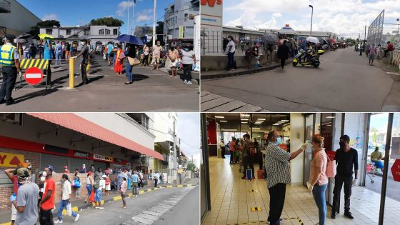 [En images] Réouverture des supermarchés : grosse affluence en ce jeudi matin