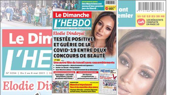 Voici la Une de Le Dimanche/L'Hebdo de ce dimanche 02 mai 2021