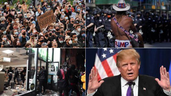 Trump menace de déployer l'armée si les violences continuent