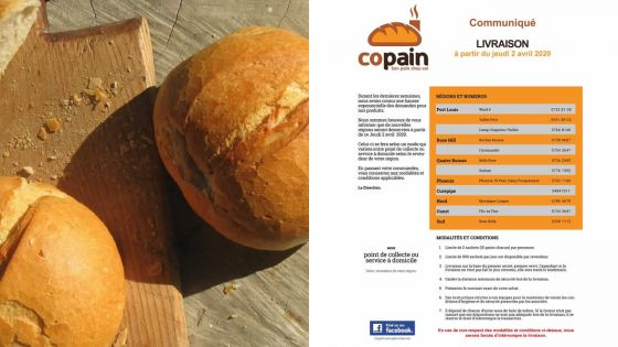 Copain livre le pain