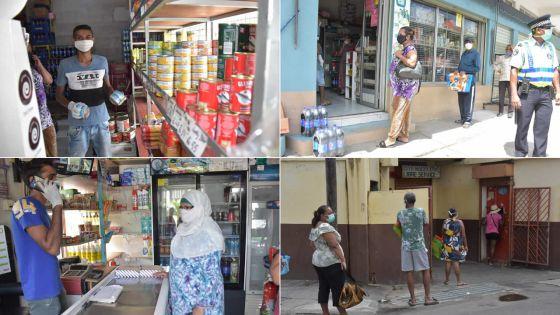 La distanciation sociale observée à Tranquebar et Vallée-Pitot