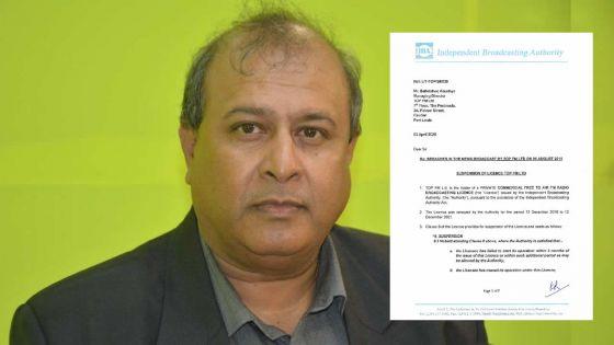 Décision de l'IBA : le permis d'opération de Top FM suspendu pour deux jours