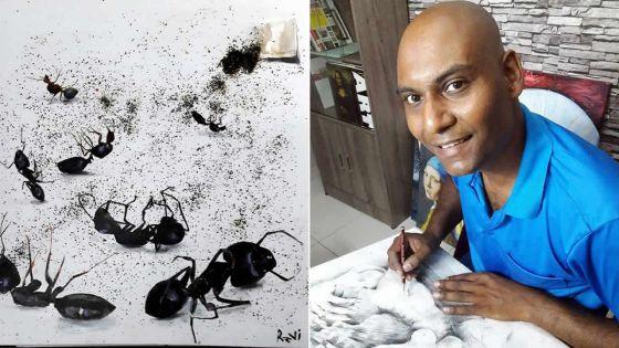 Ravi Beekharry : à coups de pinceaux !