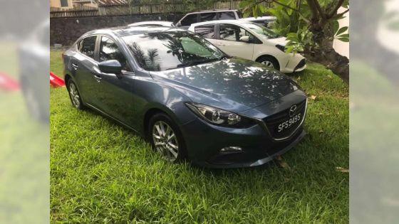 Voiture volée d'une succursale à Terre-Rouge : la Mazda 3 retrouvée en bon état