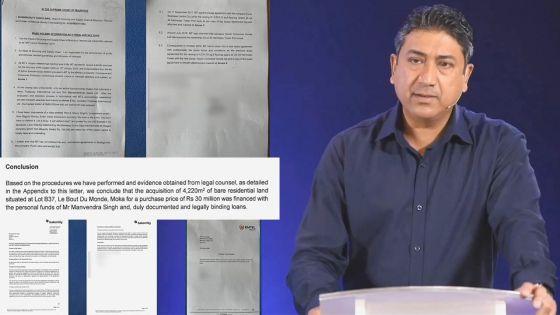 Suite aux allégations de l'avocat Bissessur : voici les documents présentés par Sherry Singh pour justifier l'acquisition de ses biens