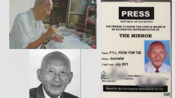 M. Poon, doyen de la presse mauricienne, n'est plus