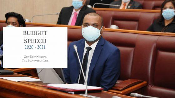 [Document] Budget 2020-21 : le discours budgétaire dans son intégralité