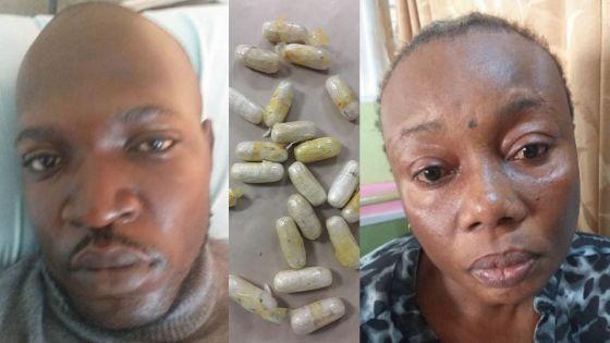 Importation de 1,8 kg d'héroïne : les passeurs attendaient des instructions téléphoniques de l'Angola