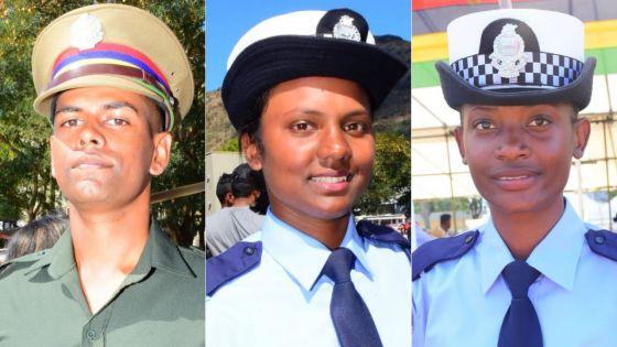Nouvelles recrues de la police : la récompense au bout de l'effort