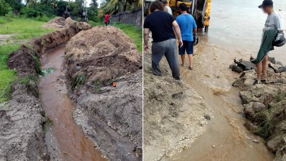 Drains incomplets à Baie-du-Tombeau : les eaux déversées dans une mare causent des inondations