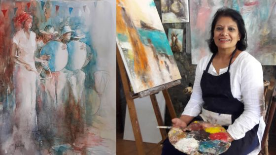 Mauritiusarts - Exposition ICW : Kalindi Jhudoosing remporte le Most Talented Artist Award