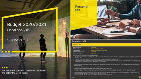 Budget 2020-21 : les observations d'Ernst & Young