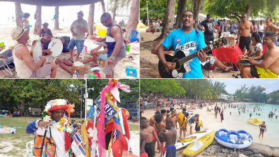 Tradition mauricienne : plages bondées pour le premier dimanche de l'an