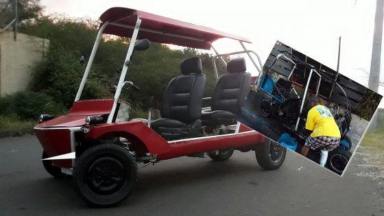 Il ne recule pas devant les épreuves : handicapé après un accident de travail, il fabrique un véhicule pour ses déplacements