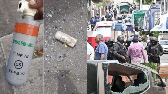 [En images] Vallée-Pitot : incidents lors d'une reconstitution des faits dans l'affaire Fakhoo, des habitants dénoncent l'usage par la police de gaz lacrymogène