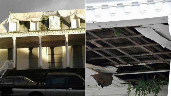 Hôtel de ville de Curepipe : la structure interne en piteux état
