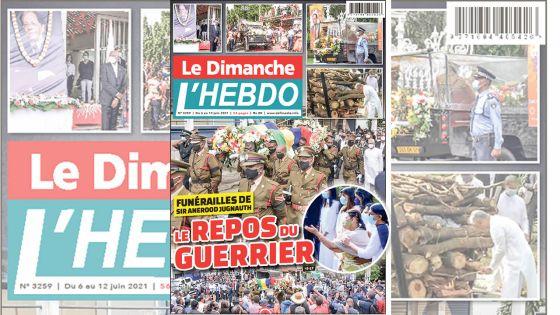 Voici la Une de Le Dimanche/L'Hebdo de ce dimanche 06 Juin 2021