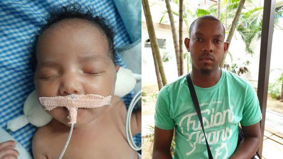 Atteinte d'une malformation au cœur et aux poumons :Léa, 3 mois, admise aux soins intensifs en Inde après une opération