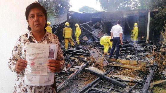 Maison incendiée : la famille Ramdassa bien besoin d'aide