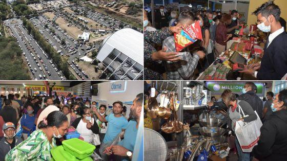 [En images] Salon du Déstockage du 7 au 9 août à Pailles : les visiteurs ont afflué en ce premier jour