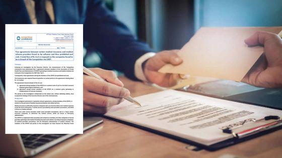 Plans d'assurance médicale: sept firmes sommées de payer une amende par la Competition Commission