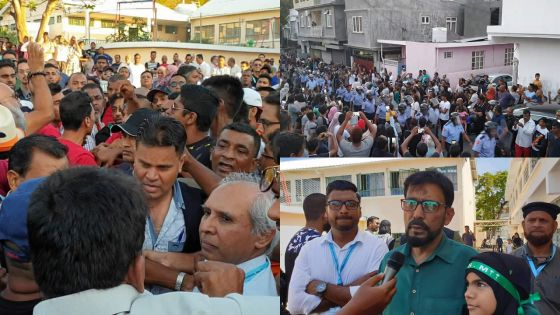 Constituency -No. 3 :Anwar Husnoo set upon by enraged crowd