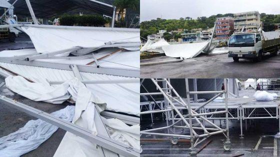 [En images] 12-Mars : les structures d'accueil pour VIP au Champ-de-Mars victimes des rafales
