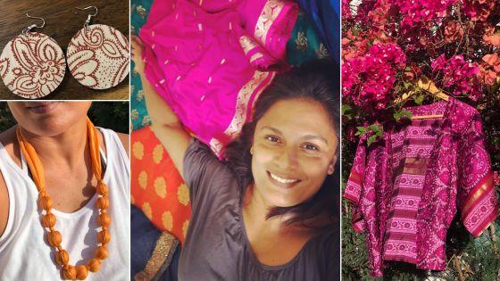 Natacha Barello redonne vie aux saris