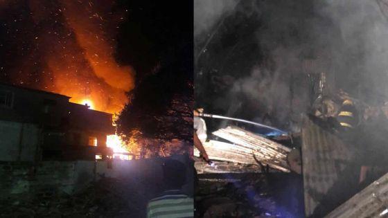 À Plaine-Verte dimanche soir : un incendie dévaste trois maisons