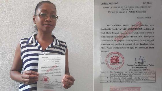 Appel à solidarité : elle sollicite l'aidedu public pour financer l'opération de sa fille