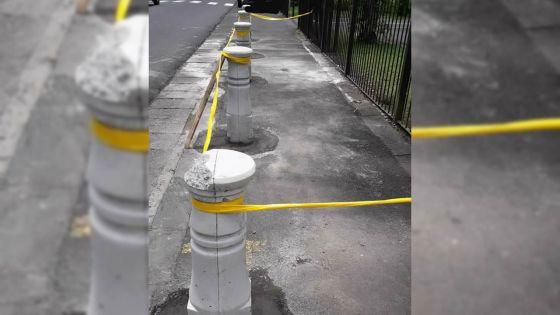 Rue Commerford, Curepipe : l'installation des bornes a débuté