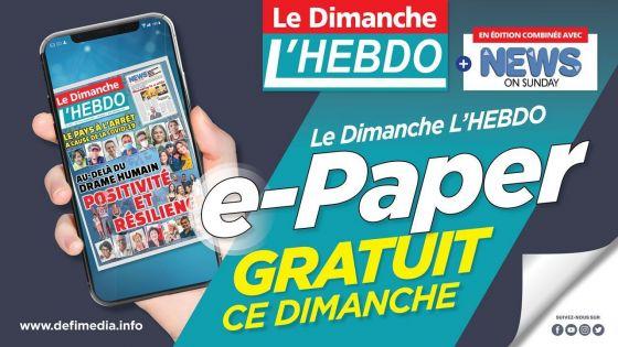 L'édition de ce 18 avril de Le Dimanche-L'Hebdo est disponible en e-paper gratuit.