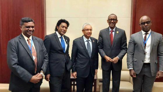 Diplomatie :Pravind Jugnauth a enchaîné les réunions bilatérales lors du 33e sommet de l'UA